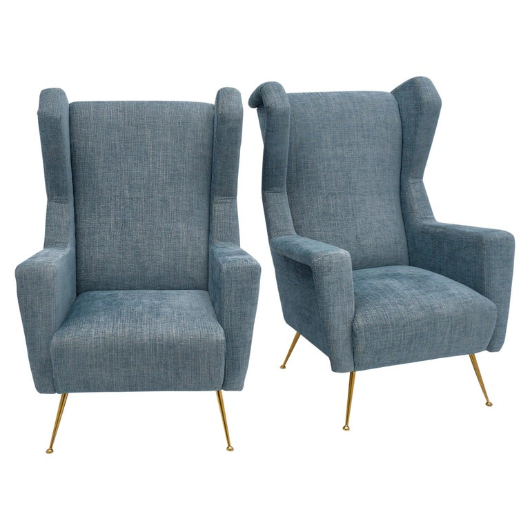 Vintage Armchairs in the Style of Carlo di Carli For Sale