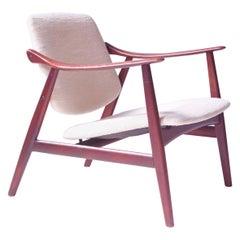 Vintage Arne Hovmand-Olsen for Mogens Kold Teak Lounge Chair-Denmark, 1960's