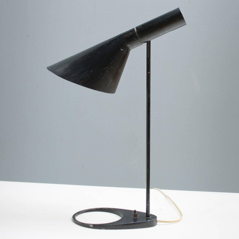 Vintage arne jacobsen aj table lamp for louis poulsen at 1stdibs original first edition arne jacobsen aj table lamp for louis poulsen the aj lamps were aloadofball Image collections
