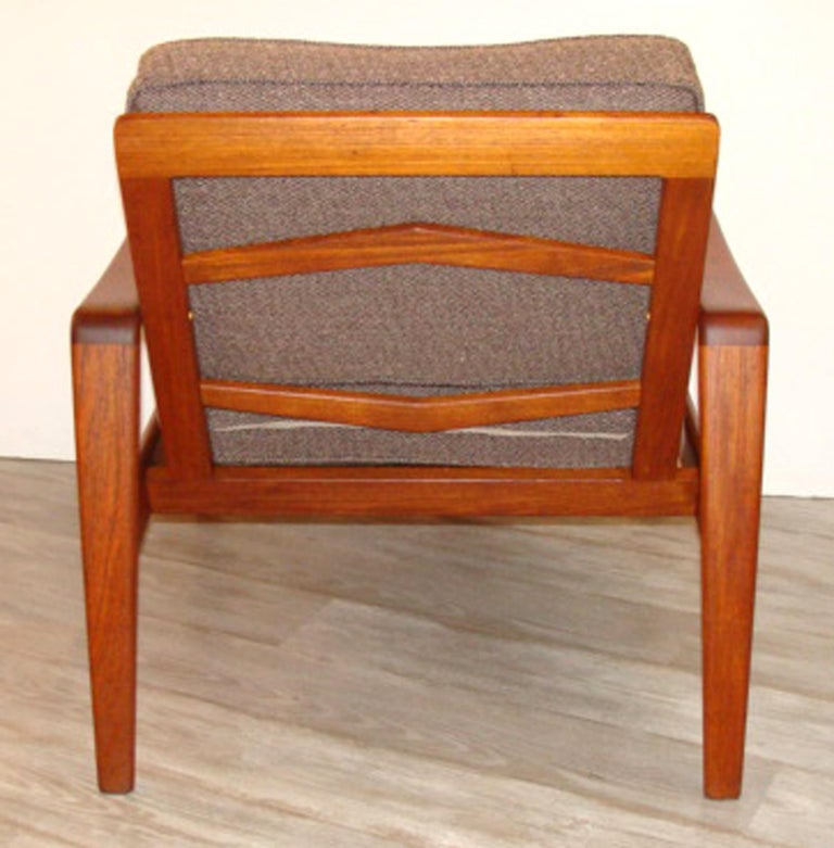 Danish Vintage Arne Wahl Iversen Chair and Ottoman Two Sets For Sale