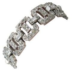 Vintage Art Deco 1930s Crystal Bracelet