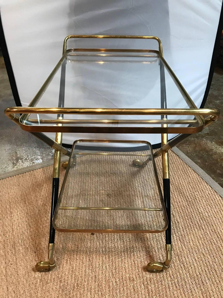 Art Deco rolling bar cart