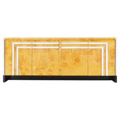 Burl Wood Credenza by Leon Rosen by Pace