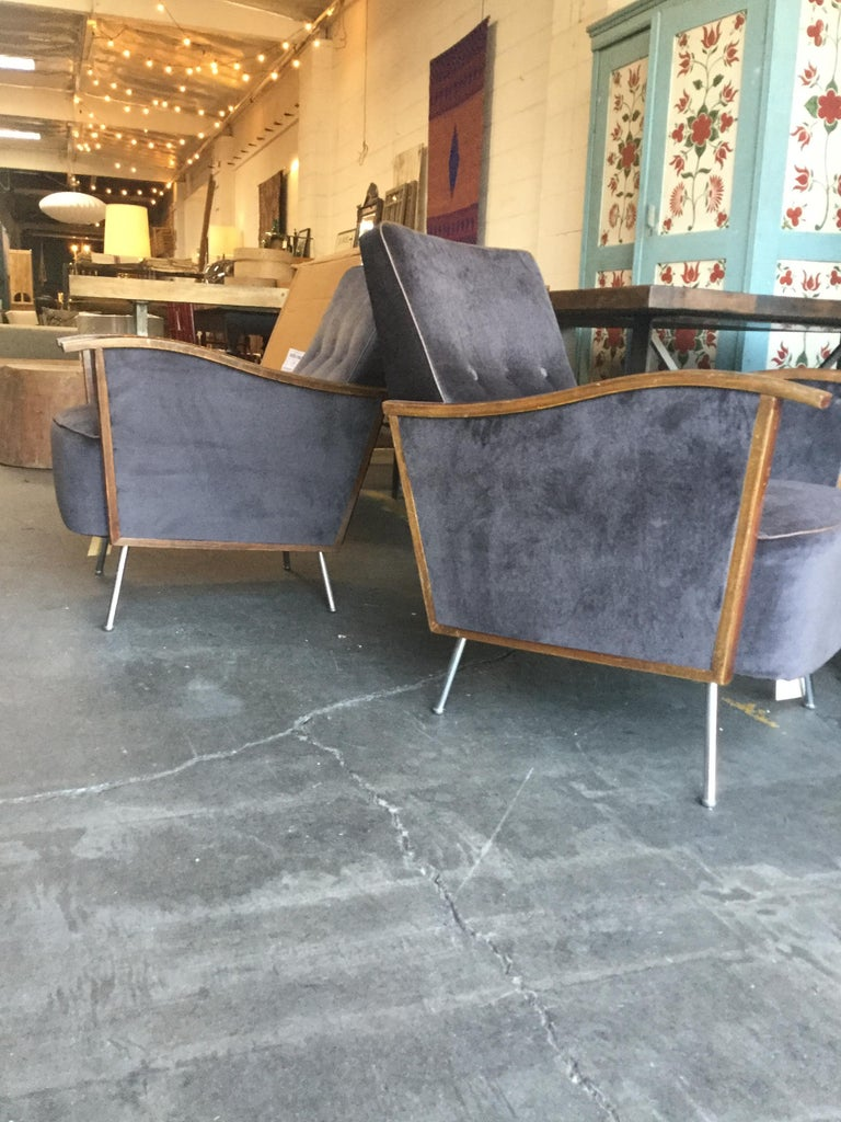 French Vintage Art Deco Chairs For Sale