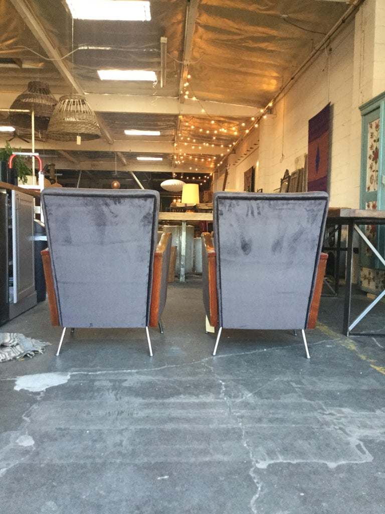 Vintage Art Deco Chairs In Excellent Condition For Sale In Los Angeles, CA