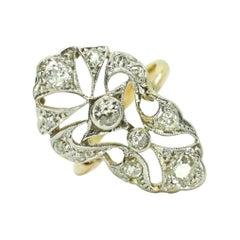 Vintage Art Deco Style Diamond Ring in 18k Gold
