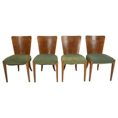 Vintage Art Deco Dining Chairs by Jindřich Halabala for Thonet, Set of 4