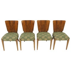 Vintage Art Deco Dining Chairs by Jindřich Halabala, Set of 4