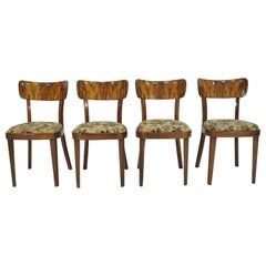 Vintage Art Deco Dining Chairs, circa 1960, Set of 4