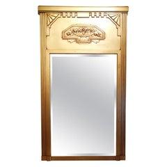 Vintage Art Deco French Giltwood Mirror