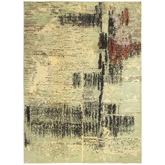 Vintage Art Deco French Rug. Size: 8 ft 1 in x 11 ft 2 in (2.46 m x 3.4 m)