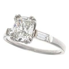 Vintage Art Deco GIA 1.26 Carat Old Mine Cut Diamond Platinum Engagement Ring