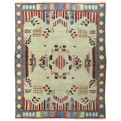 Vintage Art Deco Indian Rug