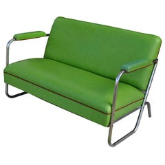 Vintage Art Deco Loveseat by KEM Weber