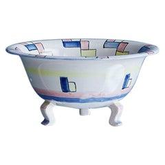Vintage Art Deco Margarete Heymann-Loebenstein Ceramic Bowl, Germany, 1930's