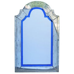 Vintage Art Deco Modernist Venetian Mirror