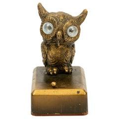 Vintage Art Deco Owl Pocket Watch Holder or Stand