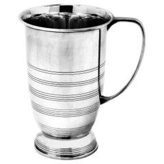 Vintage Art Deco Sterling Silver Mug Tankard 1936