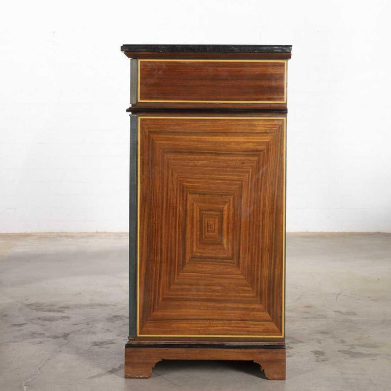 20th Century Vintage Art Deco Style French Cupboard Cabinet by B. R. Paris For Sale