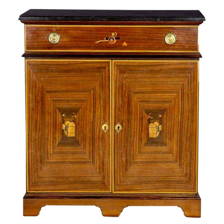 Vintage Art Deco Style French Cupboard Cabinet by B. R. Paris For Sale
