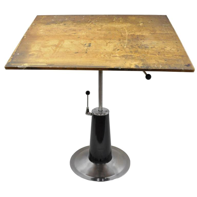 Vintage Art Deco Style Hydraulic Drafting Table