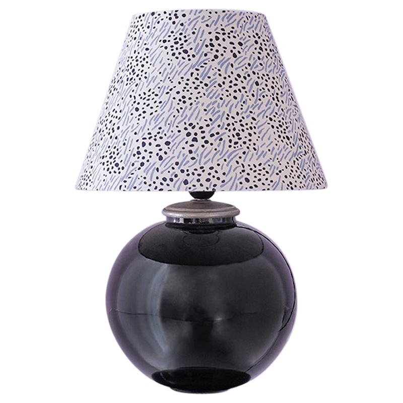 Vintage Art Deco Table Lamp with Customised Shade, France, 1930s