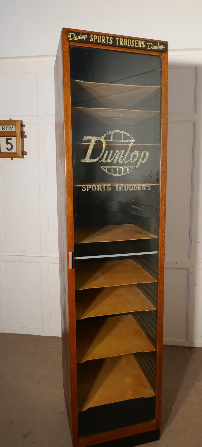 Vintage Art Deco Tall Haberdashery Dunlop Sports Cabinet For Sale 3