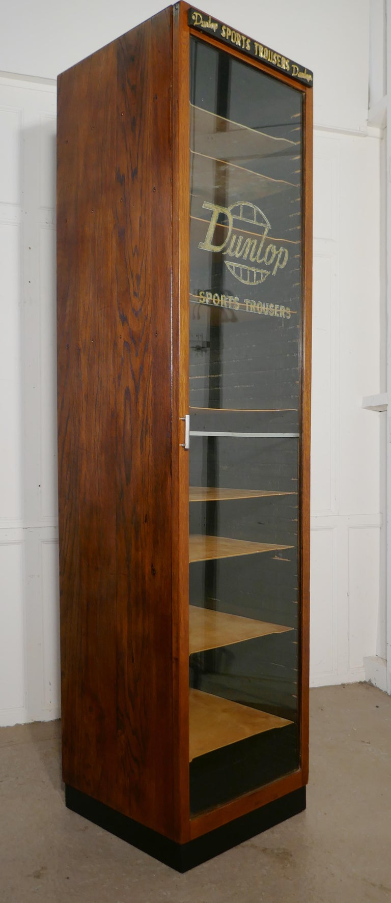 Vintage Art Deco Tall Haberdashery Dunlop Sports Cabinet For Sale 4