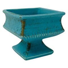 Vintage Art Deco Tiffany Blue Ikebana Vase 'Brush McCoy'