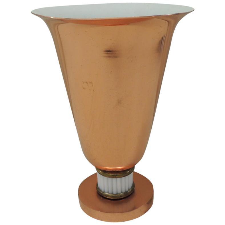 Vintage Art Deco Urn Shape Copper Finish Table Lamp