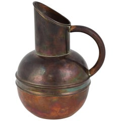 Vintage Art Nouveau Copper Jug by H. Loveridge & Co., England Early 20th Century