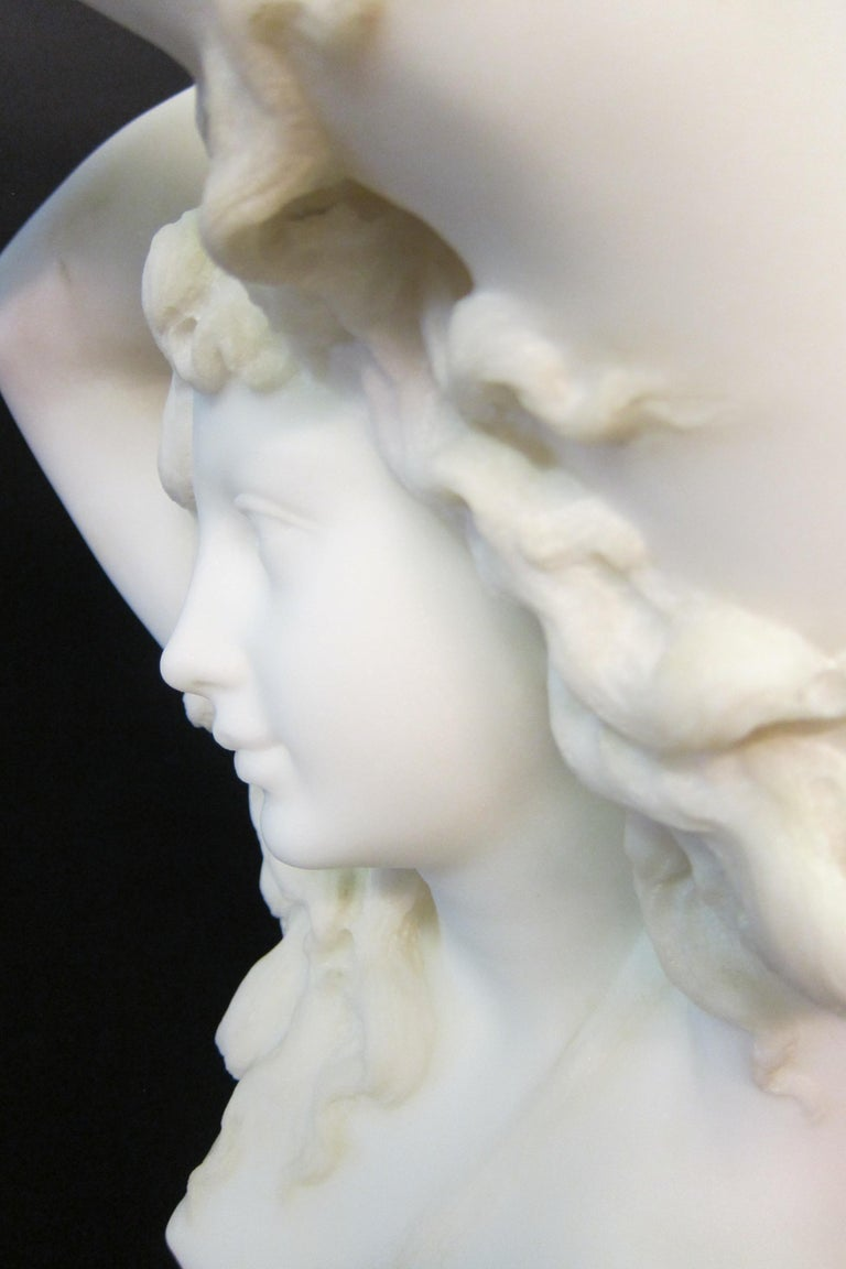 Italian Vintage Art Nouveau Marble Sculpture For Sale