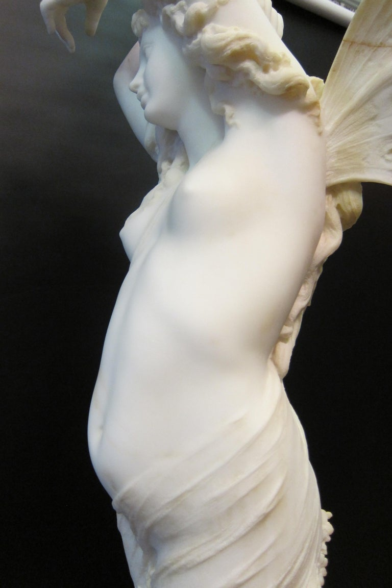 Late 19th Century Vintage Art Nouveau Marble Sculpture For Sale
