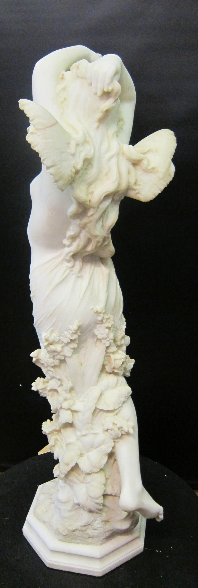 Vintage Art Nouveau Marble Sculpture For Sale 3