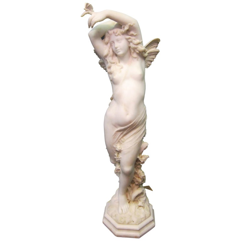 Vintage Art Nouveau Marble Sculpture For Sale