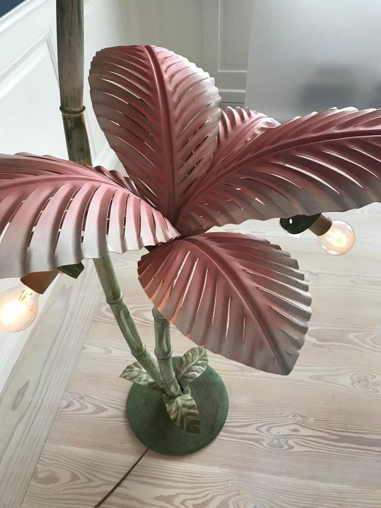 Vintage Art Nouveau Palm Tree Floor Lamp, France, 1940s 1