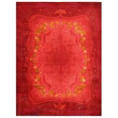 Vintage Art Nouveau Wilton Carpet. Size: 10 ft 8 in x 14 ft 3 in
