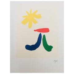 Vintage Art Poster after Joan Miro 'Parler seul' Maeght Editeur