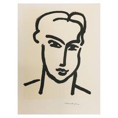 Vintage Art Poster Henri Matisse 'Grande Tete De Katia' 1994