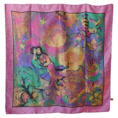 Vintage Art Scarf, Romantic Impressionist Design from Feliciani