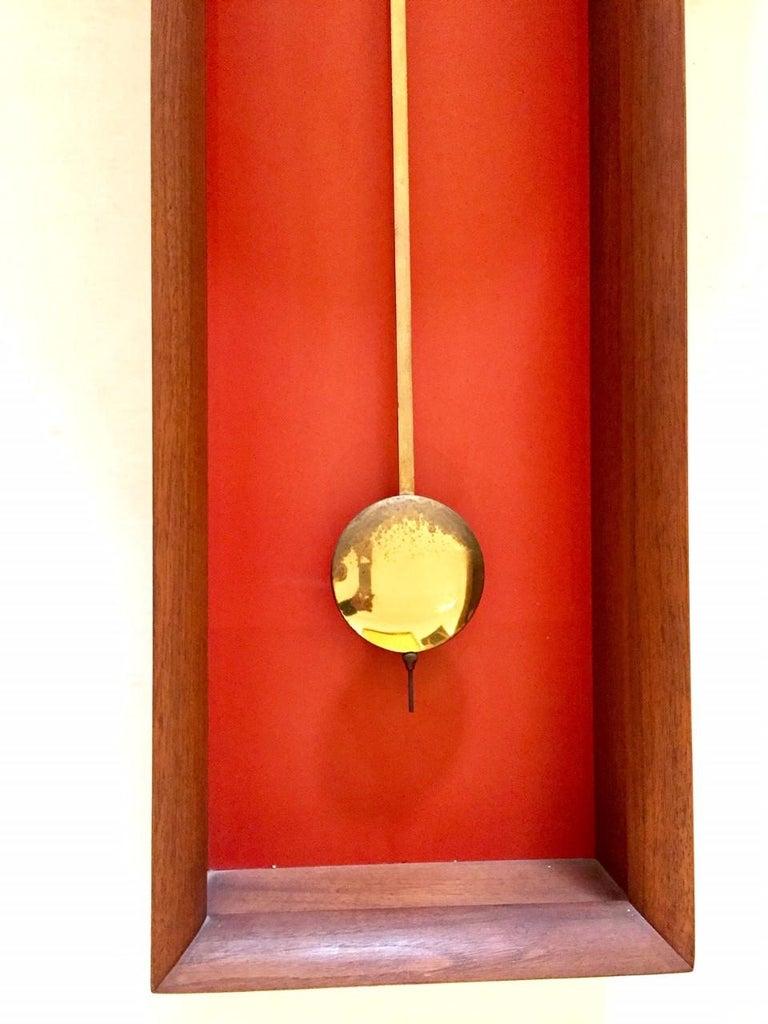 "Mid-Century Modern Vintage Arthur Umanoff  ""Meridian"" Clock for Howard Miller For Sale"