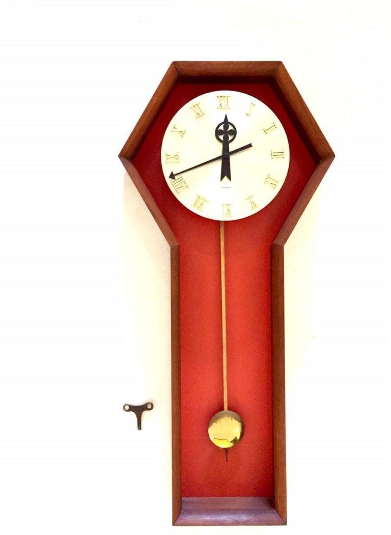"North American Vintage Arthur Umanoff  ""Meridian"" Clock for Howard Miller For Sale"