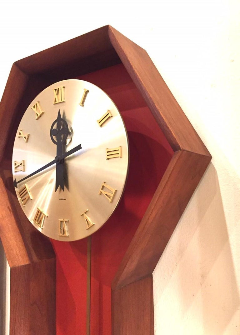 """Vintage Arthur Umanoff  """"Meridian"""" Clock for Howard Miller In Good Condition For Sale In San Diego, CA"""