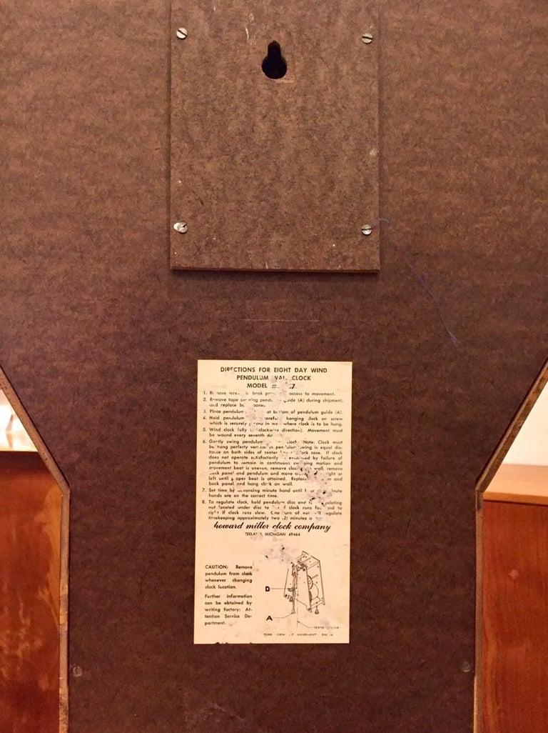 "Late 20th Century Vintage Arthur Umanoff  ""Meridian"" Clock for Howard Miller For Sale"