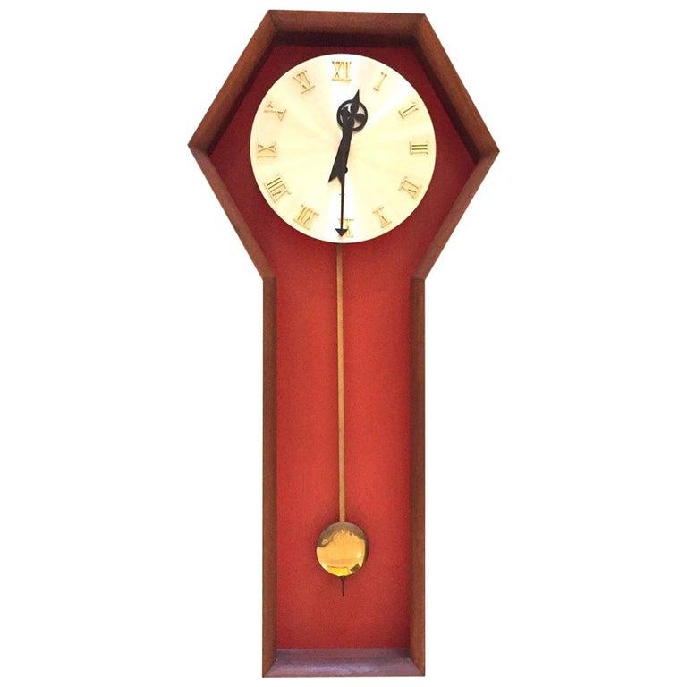 """Vintage Arthur Umanoff  """"Meridian"""" Clock for Howard Miller For Sale"""