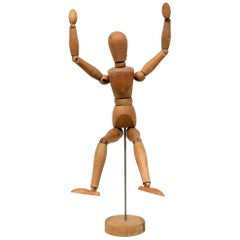 Vintage Articulated and Jointed Wooden Metal Figure