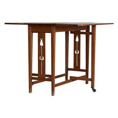 Vintage Arts & Crafts Drop-Leaf Table in Solid Oak, England, Early 20th Century