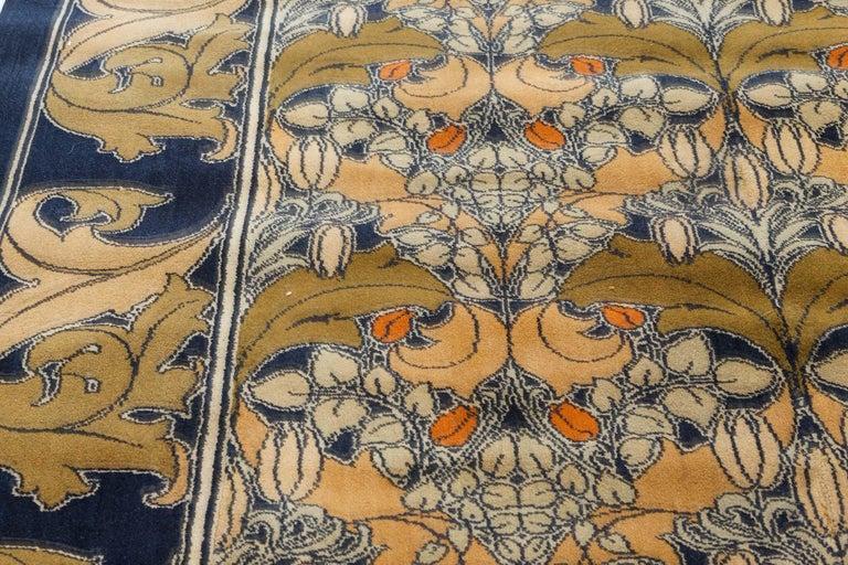 British Vintage Arts & Crafts Voysey Rug For Sale