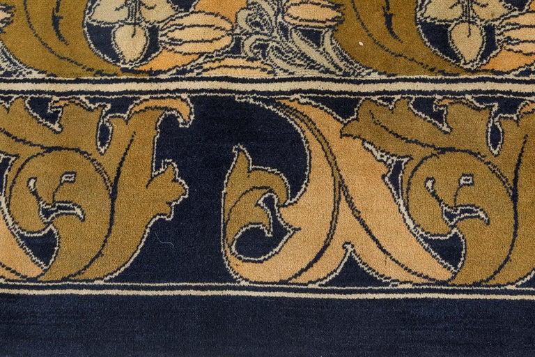 Hand-Woven Vintage Arts & Crafts Voysey Rug For Sale