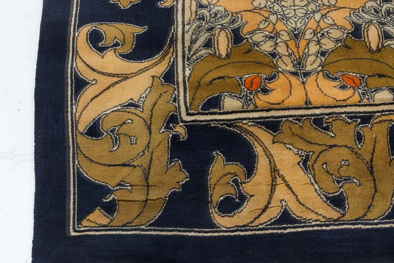 Vintage Arts & Crafts Voysey Rug In Good Condition For Sale In New York, NY